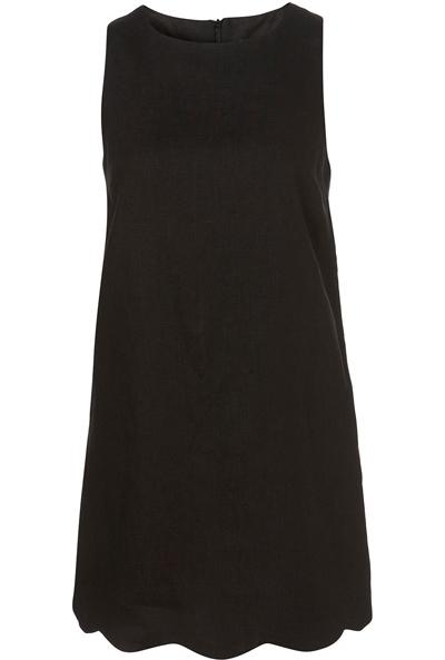 4. Topshop Black Linen Scallop Hem Shift Dress - 7 Stylish…