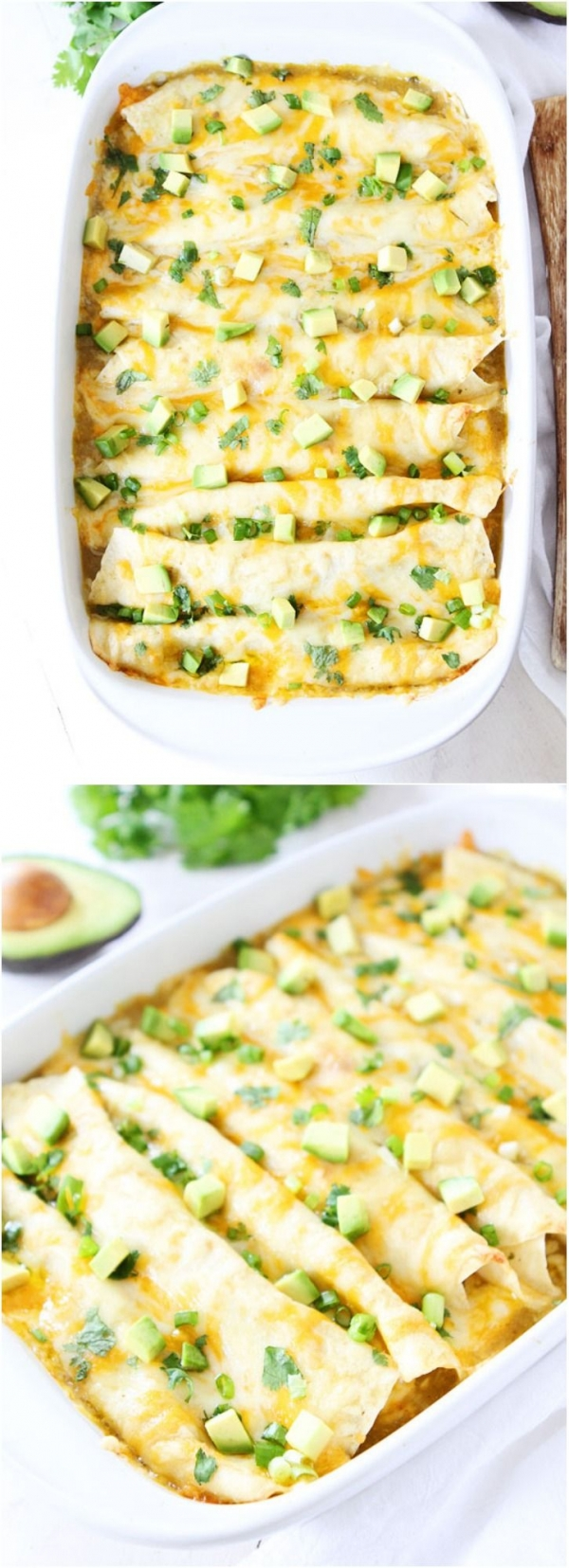 Creamy Spinach and Cheese Green Chile Enchilada