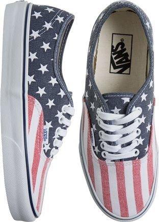 Vans American Flag Printed Shoe