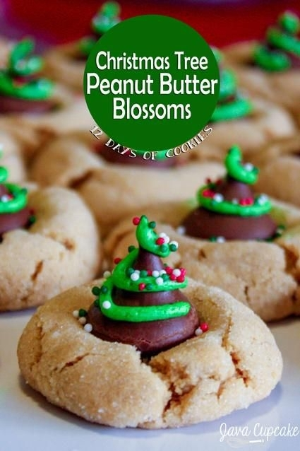 23. Christmas Tree Peanut Butter Blossoms - 33 Christmas Cookies for ...
