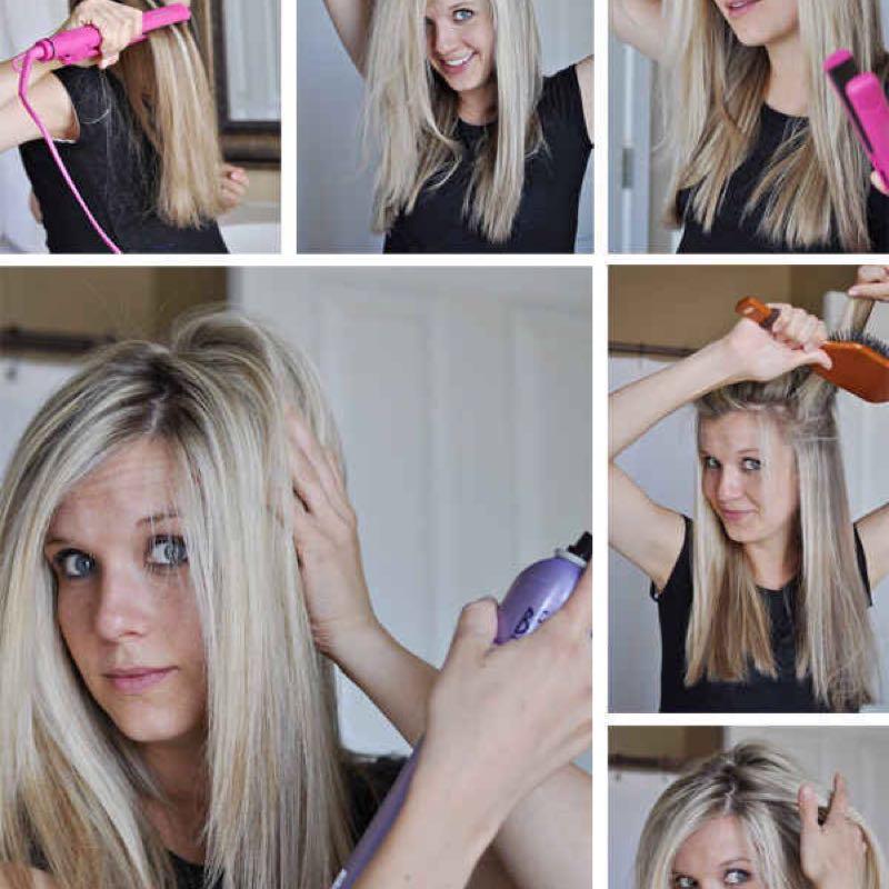 Как сделать объём в корнях волос