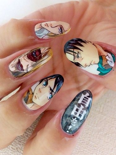 Character Design Nails : Favorite character nail art really cool manga