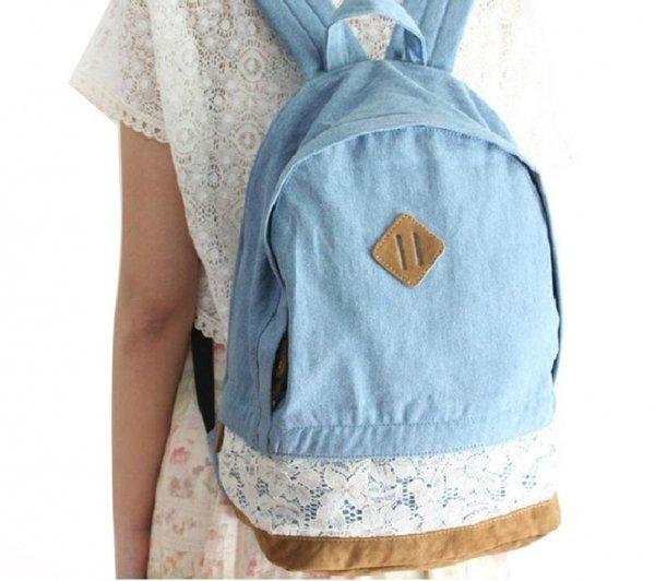 Korean Style Jeans Backpack