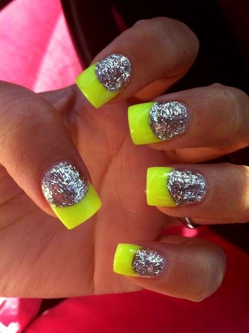 Neon French Tip Nail Designs | Best Nail Designs 2018
