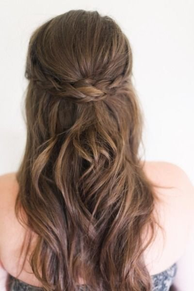 Beach Waves Hair With Braids