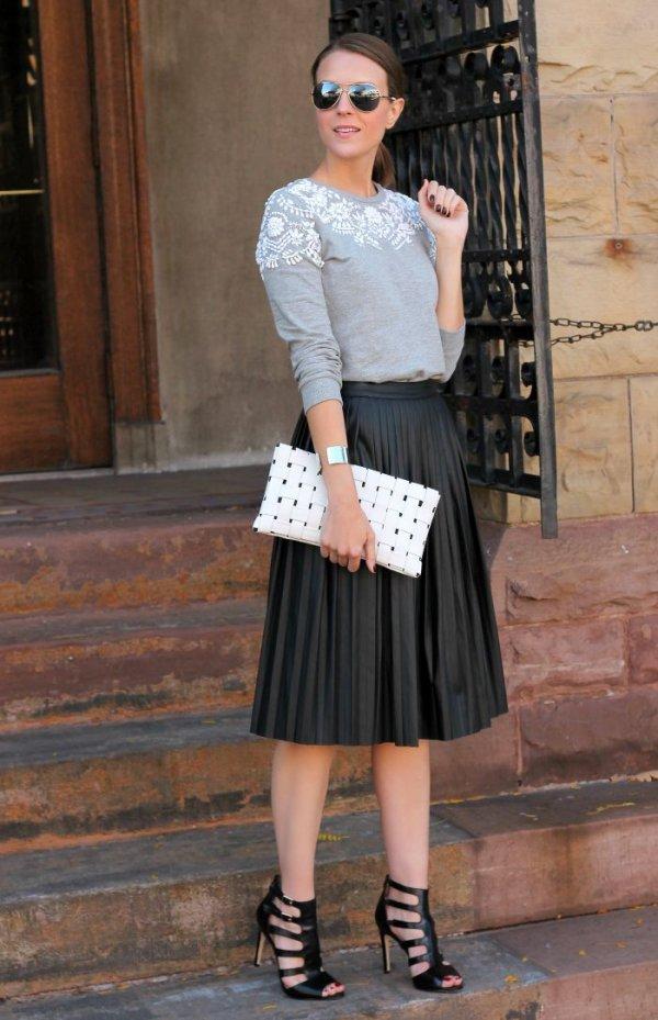 killer heels 17 ways to wear a faux leather skirt