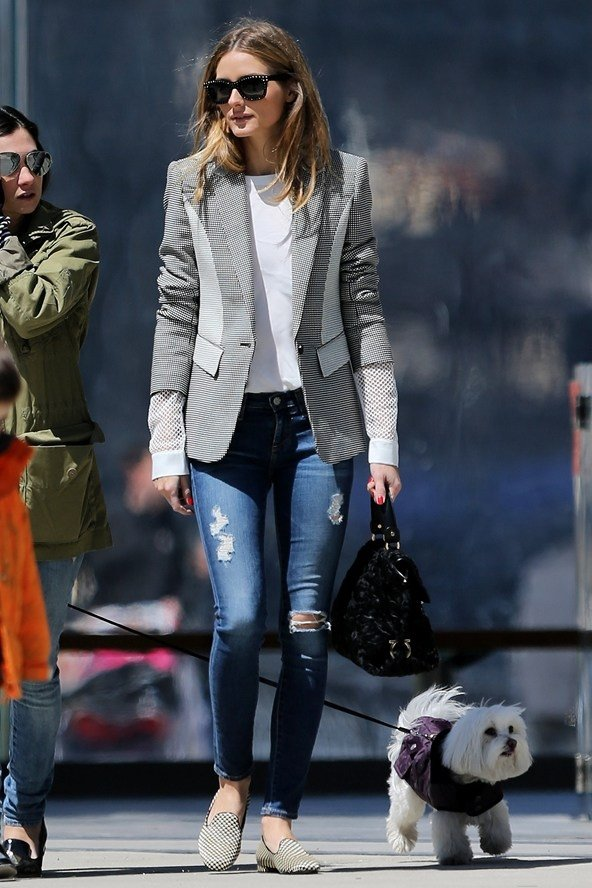 Olivia Palermo - 11 Celebrities Wearing Ripped Jeans – Who Wore It…