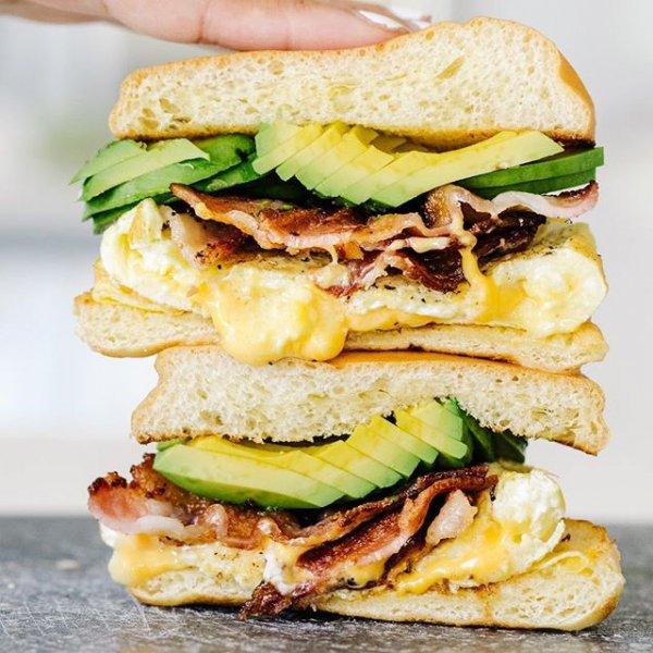 food, dish, breakfast sandwich, hamburger, veggie burger,