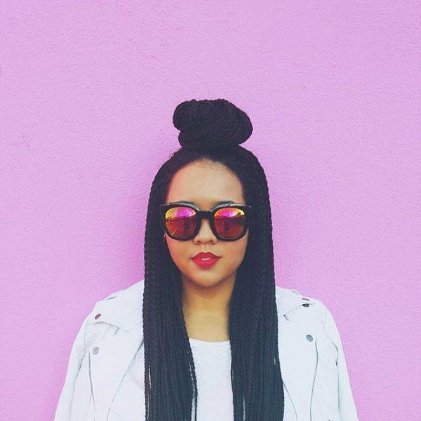 eyewear, hair, hairstyle, pink, vision care,