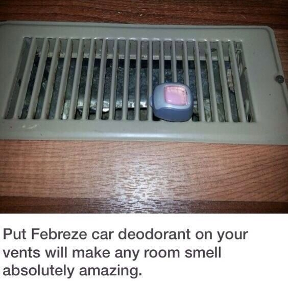 Make Room Smell Good: 42. A Nifty Trick For A Fresh Smell