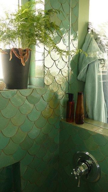 Mermaid tiles 26 magnificent mermaid inspired homes