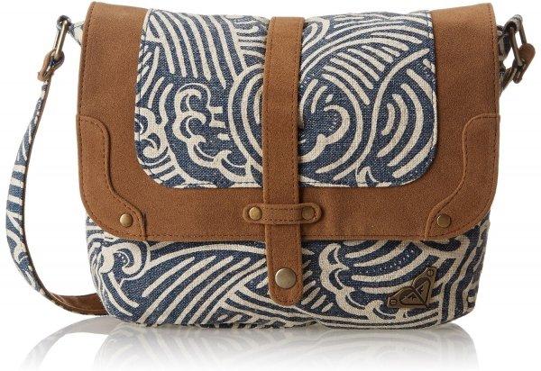Roxy Island Breeze Flax Shoulder Bag in Dark Denim