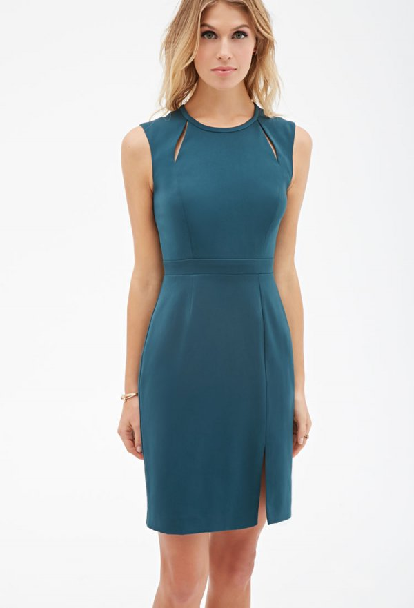 Vented Cutout Sheath Dress