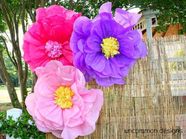 8 fleurs géantes bricolage délicieusement magnifiques …