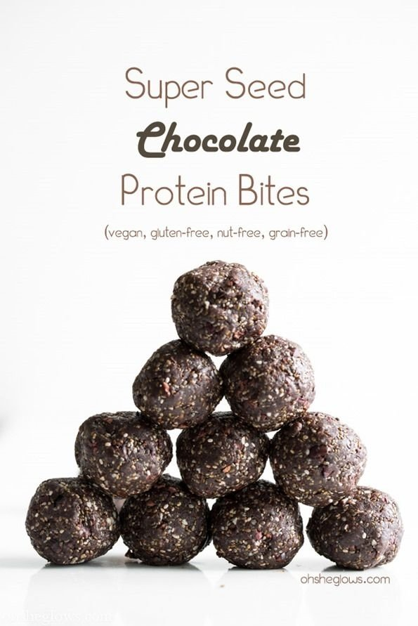 Super Seed Chocolate Protein Bites