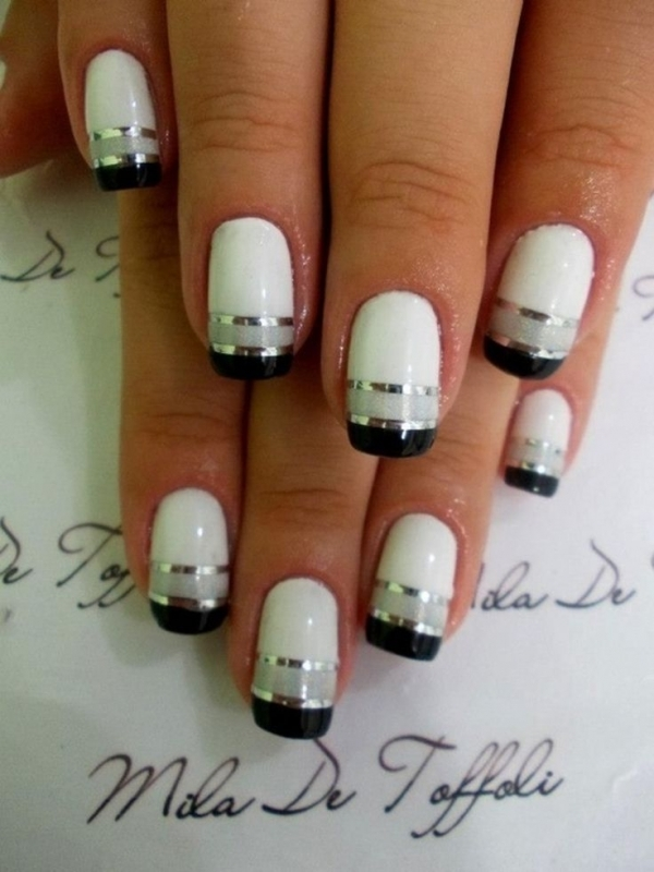 peppen sie wei e n gel auf 22 winter entwirft hochzeit nail art. Black Bedroom Furniture Sets. Home Design Ideas