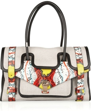 Proenza Schouler PS1 Canvas and Leather Tote