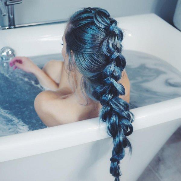 hair, blue, hairstyle, long hair,