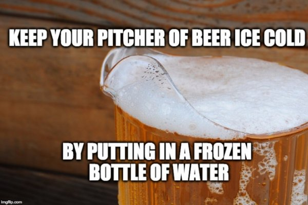 Here's How to Keep That Pitcher of Beer Freezing