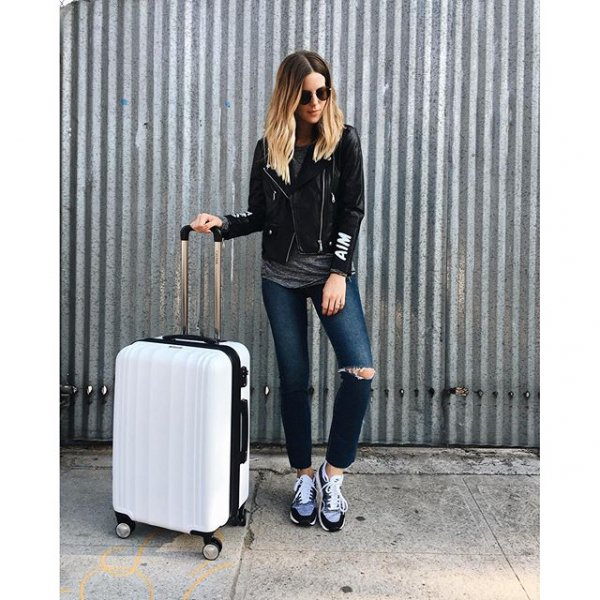 clothing, footwear, leather, outerwear, suitcase,