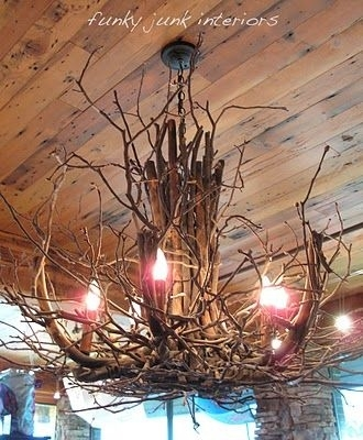 DIY Twig Chandelier 34 DIY Chandeliers To Light Up Your Life