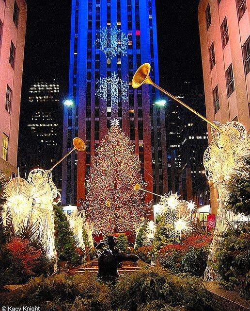 Rockefeller Christmas Tree Lighting 2014: Rockefeller Center, New York, USA