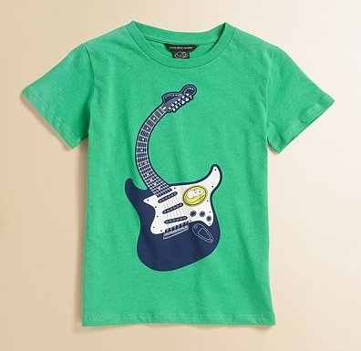 Little Marc Jacobs Horacio 2 Guitar Print Tee