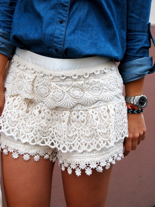 Lace Shorts Scream Summer!