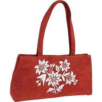 Moyna bolsos bordados gamuza bolso rojo