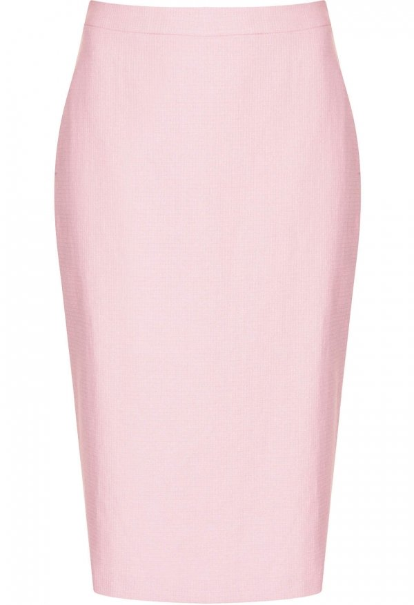 topshop pink tweed pencil skirt 9 pretty pastel midi
