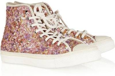 Converse Chuck Taylor Sequined Hi Top Fashion Sneakers
