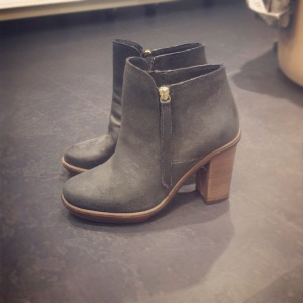 Gray Ankle Booties