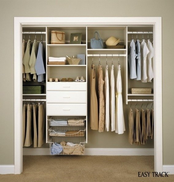 19 organized closet systems to get your space under control. Black Bedroom Furniture Sets. Home Design Ideas