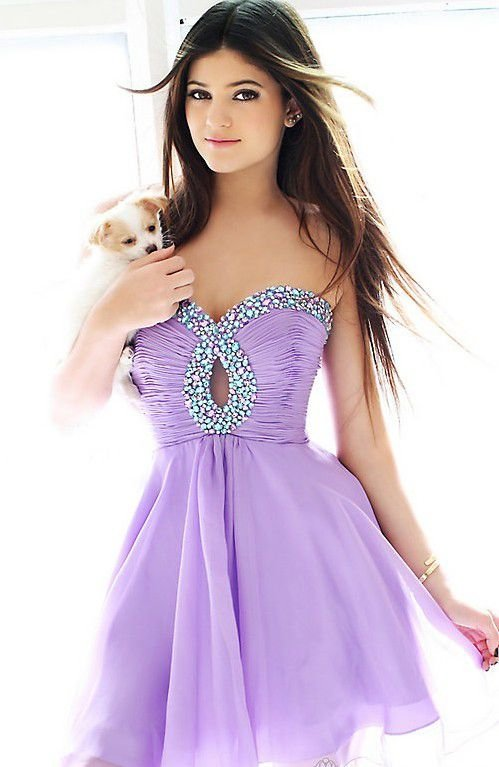 7. Lavender Love - 30 Stunning Homecoming Dresses ... → 👭 Teen