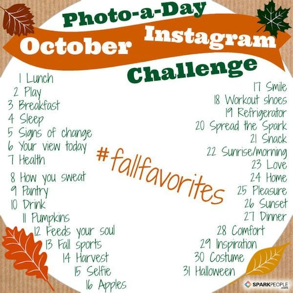 SparkPeople's Photo-a-Day Challenge in October