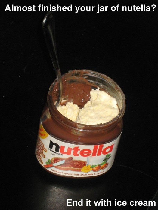 Never Waste the Nutella