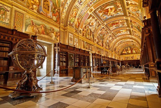 The Library of El Escorial, Spain