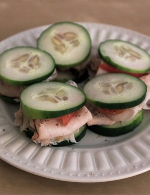 Cucumber Turkey Sandwiches