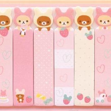 Slim Rilakkuma Rabbit Index Stickers 45 Cute Stationery