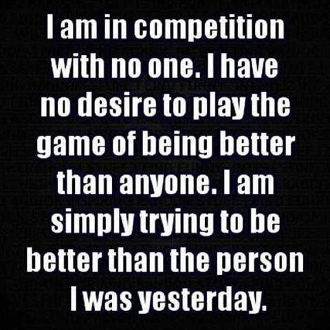 Be in Competition with No One