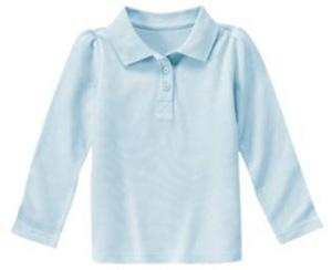 Gymboree uniform long sleeve polo shirt 7 cute polo for Cute polo shirts for women