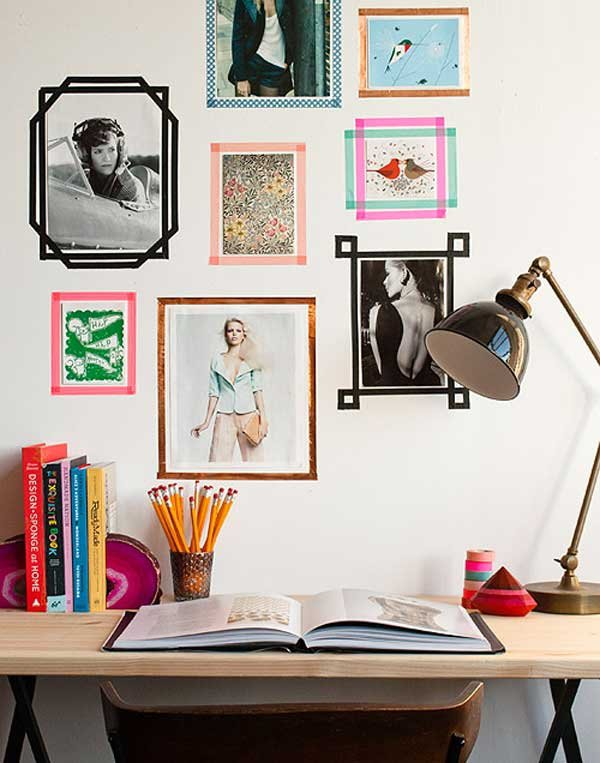 Make Picture Frames out of Tape