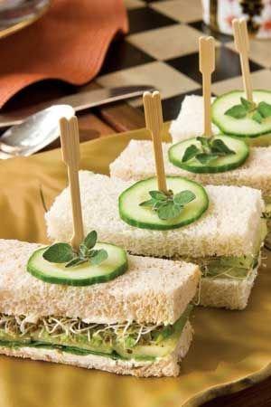 Garnishing ideas for sandwiches