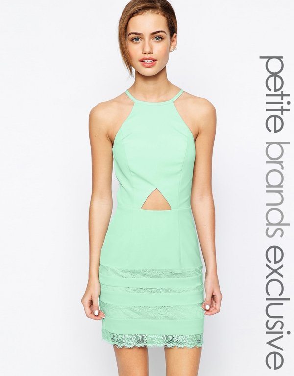 Jarlo Petite Cut out Mini Dress