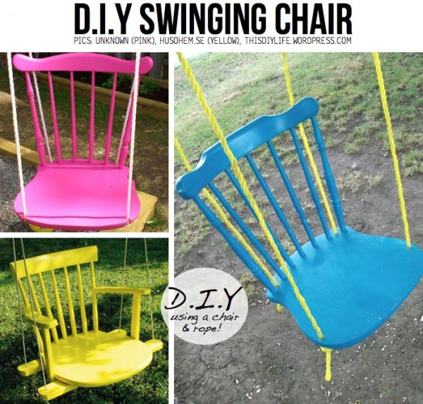 DIY Swinging Chair - The Best DIY Chairs for Hanging out in at…