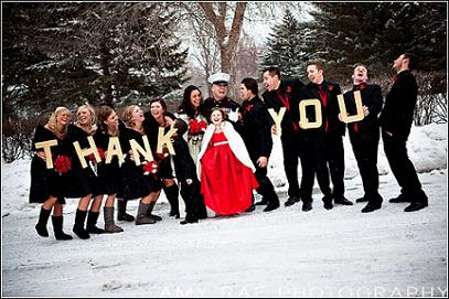 Snowy Military Wedding...
