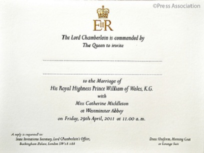 A Royal Invitation...