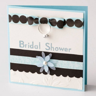 Throw a Shower  4 DIY Wedding Card Ideas → 👰 Wedding