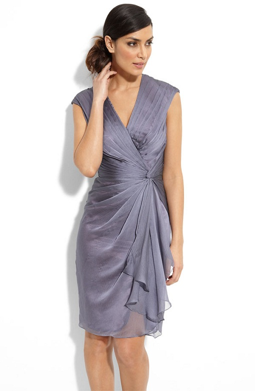 5. Faux Wrap Mother of the Bride Dress... - 15 Sexy Mother of the…