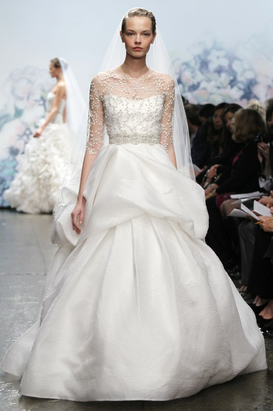 Illusion Neckline Wedding Gown Trend...